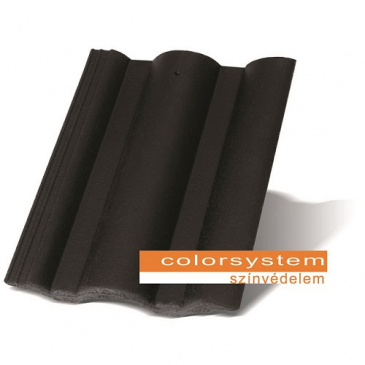 Terrán (Mediterrán) Standard Colorsystem fekete tetőcserép